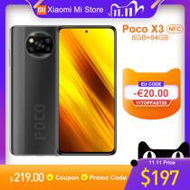 Afbeelding van Global Version Xiaomi Poco X3 NFC Smartphone 6GB RAM 64GB ROM Snapdragon 732G Octa Core 64MP 5160mAh Battery 33W Fast Charge