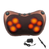 Afbeelding van Relaxation Massage Pillow Vibrator Electric Shoulder Back Heating Kneading Infrared therapy pillow shiatsu Neck Massager