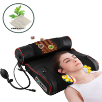 Afbeelding van Electric Neck Relaxation Massage Pillow Back Heating Kneading Infrared therapy shiatsu AB Massager