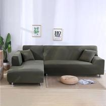 Afbeelding van Solid Color Tight Wrap Elastic Sofa Cover Sofa Cover If L-style Sectional Corner Sofa