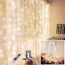 Afbeelding van Rainbow Color USB Port Copper Wire String Light Icicle Lamp Christmas Day Decoration Lights with Remote Control