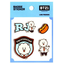 Afbeelding van BT21 BT21 Badge Sticker - RJ
